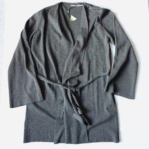 NWOT Max Studio Merino Wool Blend Belted Cardigan